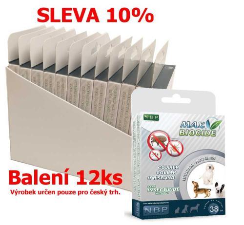 Max Biocide Collar Dog antiparazitní obojek, pes 38 cm (12 ks) SLEVA 10 % !CZ!