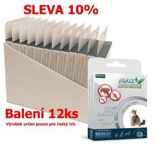 Max Biocide Collar Cat antiparazitní obojek, koèka 42 cm (12 ks)  SLEVA 10 % !CZ!