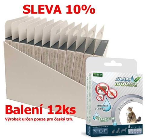 Max Biocide Spot-on Cat  antiparazitní kapsle, koèka 5 x 1 ml (12 ks) SLEVA 10 % !CZ!
