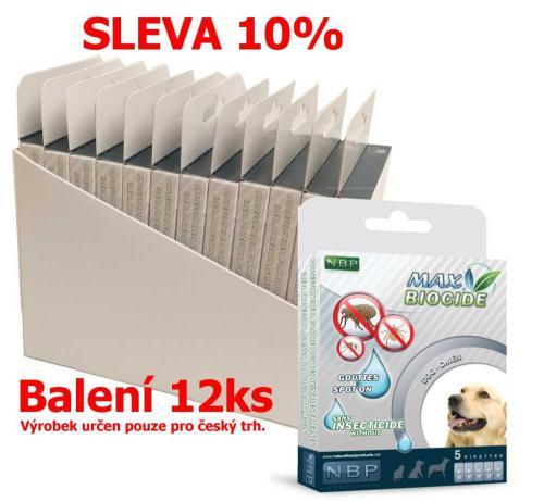 Max Biocide Spot-on Dog antiparazitní kapsle, pes 5 x 1 ml (12 ks) SLEVA 10 % !CZ!