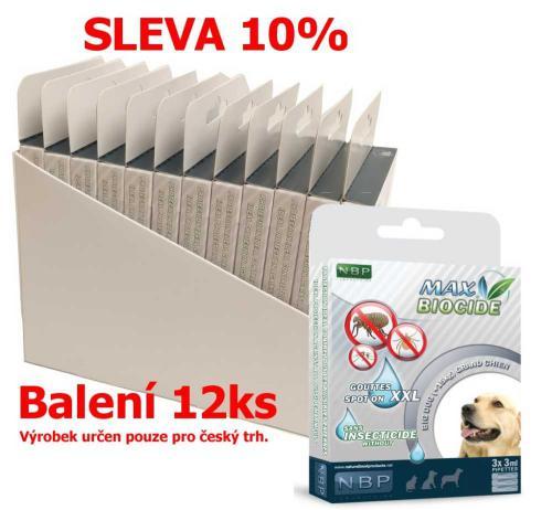 Max Biocide Spot-on Dog XXL antiparazitní kapsle, pes 3 x 3 ml (12 ks) SLEVA 10 % !CZ!