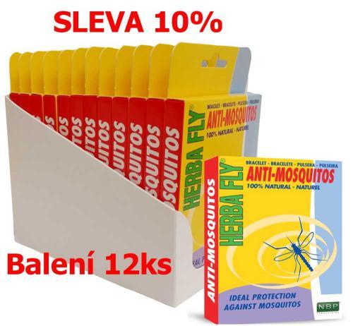Herba Fly Anti Mosquitos náramek proti komárùm (12 ks) SLEVA 10 %