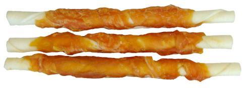 Buvolí tyèinka obalená kuøecím masem JUKO Exclusive Snacks 12,5 cm (30 ks)