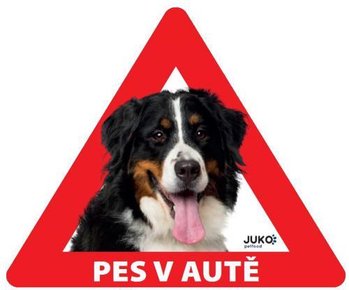 Samolepka pes v autì vnitøní - bernský salašnický