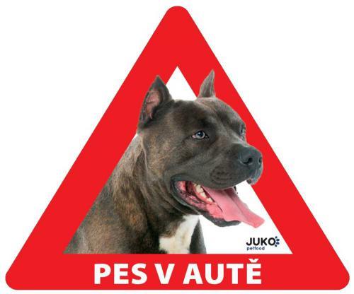 Samolepka pes v autì vnitøní - staford