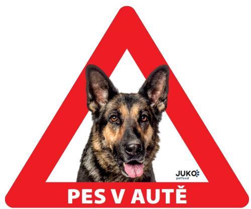 Samolepka pes v autì venkovní - nìmecký ovèák
