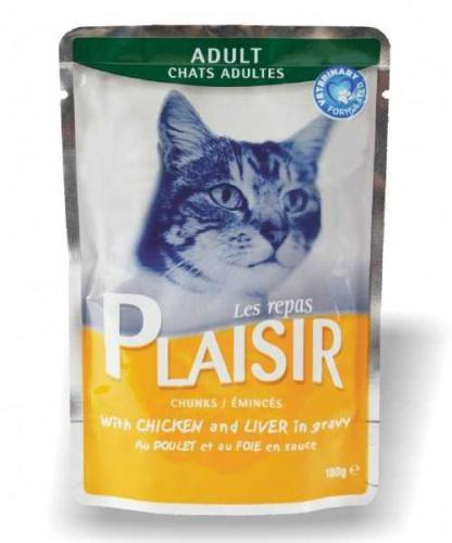 Plaisir Cat kuøecí & játra, kapsièka 100 g