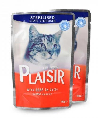 Plaisir Cat Sterilised hovìzí v želé, kapsièka 100 g