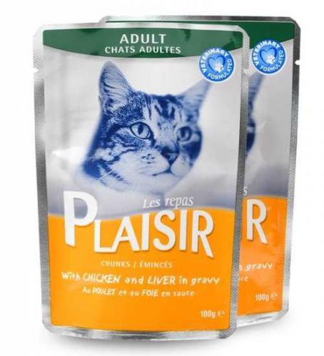 Plaisir Cat Sterilised kuøecí v želé, kapsièka 100 g