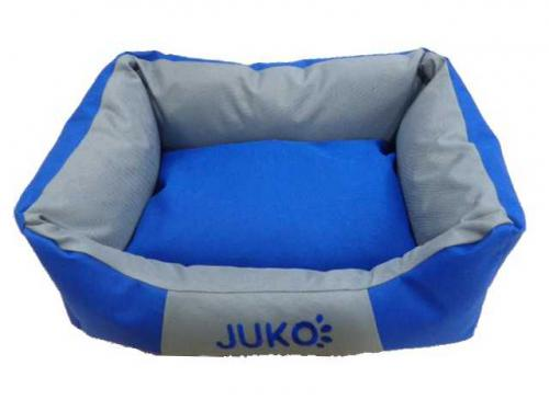 Pelíšek odolný JUKO modrá M 65x51x18 cm