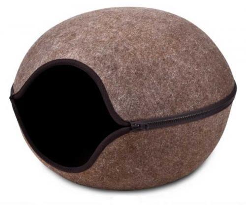 Kukaò pelíšek vchod støed hnìdá, 46x46x32,5 cm