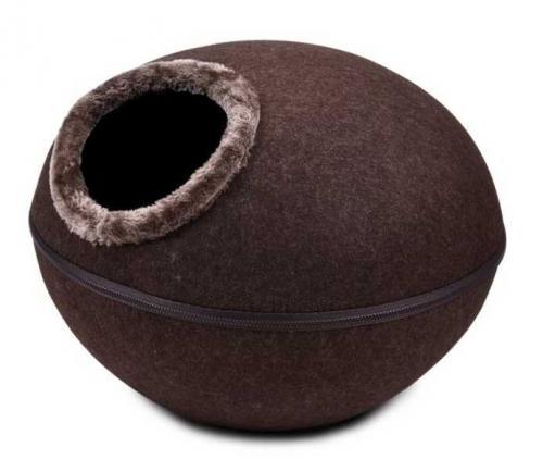 Kukaò pelíšek vchod horní, hnìdá 46x46x32,5 cm