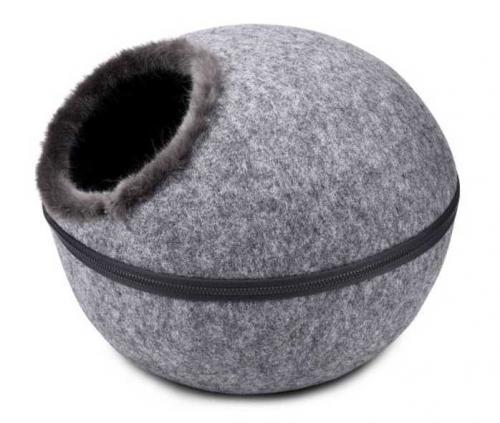 Kukaò pelíšek vchod horní, šedá 46x46x32,5 cm