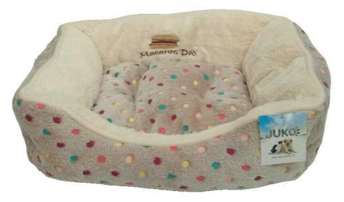 Pelíšek s puntíky Extra soft Bed šedá XS 47 cm