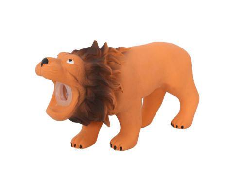 Latexový lev s pískadlem 16x5,5x9 cm
