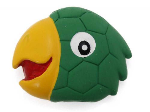 Latexová hraèka s pískadlem - papoušek,hlava 8x7x3cm