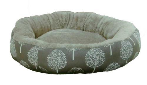 Pelíšek JUKO plyš kruh, vzor strom S 53x10 cm