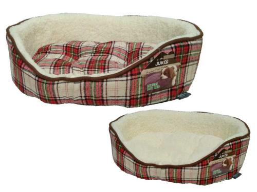 Pelíšek JUKO klasik vzor skotská kostka èervená XL 90x72x21 cm
