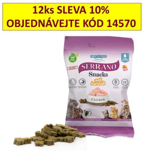 Serrano Snack for Cat AntiHairball Chicken 50 g