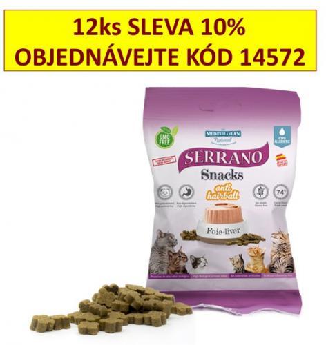 Serrano Snack for Cat AntiHairball Liver 50 g