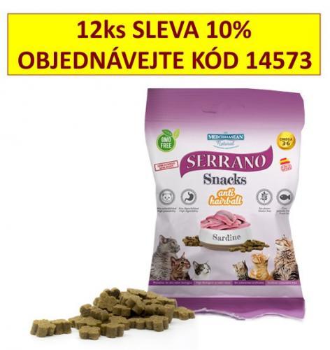 Serrano Snack for Cat AntiHairball Sardine 50 g