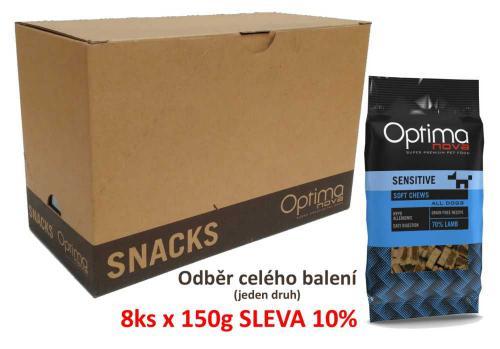 OPTIMAnova Functional Snack Sensitive Lamb 150 g (8 ks) AKCE 10 %