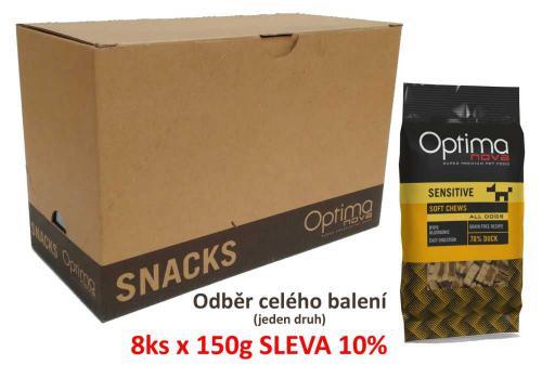 OPTIMAnova Functional Snack Sensitive Duck 150 g (8 ks) AKCE 10 %
