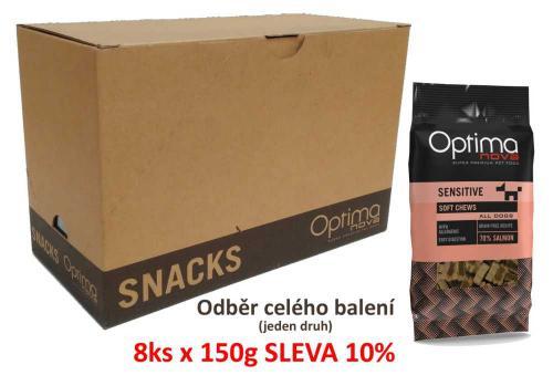 OPTIMAnova Functional Snack Sensitive Salmon 150 g (8 ks) AKCE 10 %