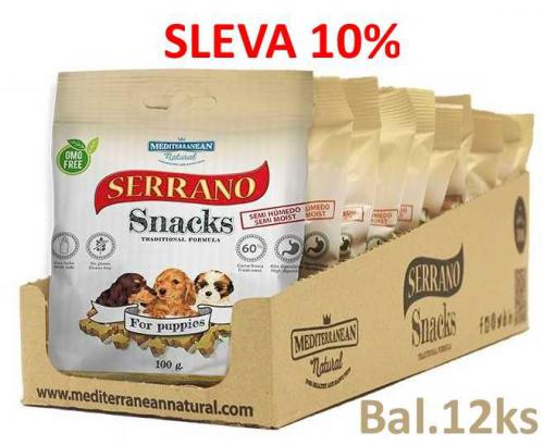 Serrano Snack for Puppies 100g (12 ks) AKCE 10 %