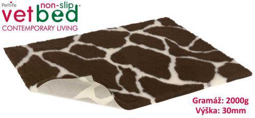 Vetbed protiskluz/Drybed žirafa 150 x 100 cm, vlas 30 mm