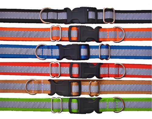 Obojek popruh barevný reflexní 2 x 32-55 cm