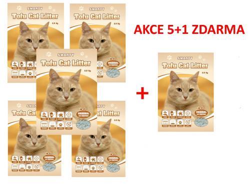 Smarty Tofu Cat Litter Original podestýlka bez vùnì 6 l AKCE 5+1 ks ZDARMA