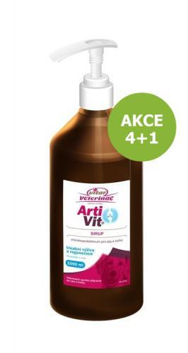 Vitar Veterinae Artivit sirup s pumpièkou 1000 ml AKCE 4 + 1 ZDARMA