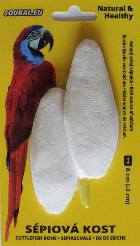 Sépiová kost na kartì cca 8 cm (2 ks)