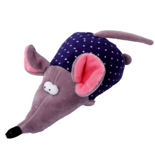 Hraèka pes - plyšová myš pískací 17 cm