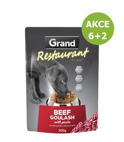 Grand deluxe Resturant Hovìzí guláš kapsy pro psy 300 g AKCE 6+2