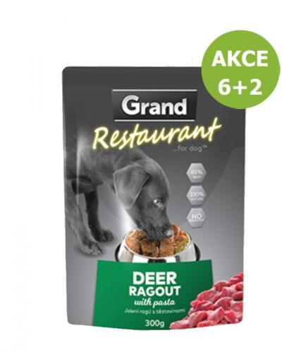 Grand deluxe Restaurant Jelení ragú kapsy pro psy 300 g AKCE 6+2