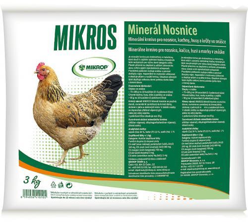 MIKROS minerál nosnice 3 kg