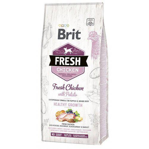 Brit Fresh Chicken & Potato Puppy Healthy Growth 12kg