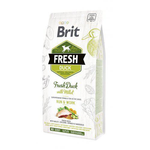 Brit Fresh Duck & Millet Active Run & Work 2,5kg