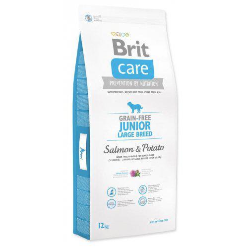 NEW Brit Care Grain-free Junior Large Breed Salmon & Potato 1kg,3kg,12kg