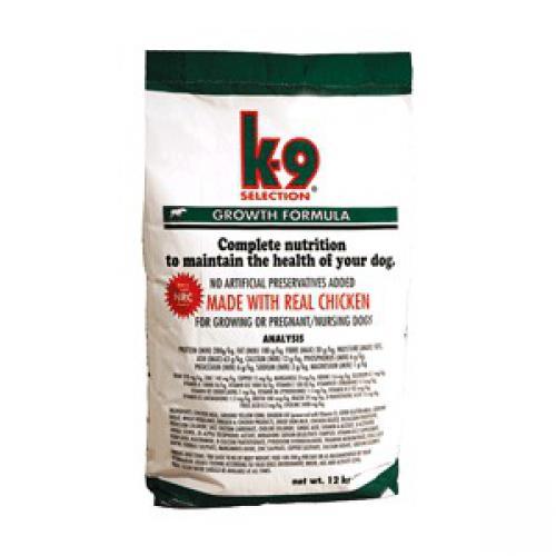 K-9 SELECTION GROWTH FORMULA 1kg,3kg,12kg (krmivo pro štìòata)