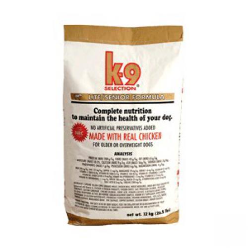 K-9 SELECTION LITE FORMULA SENIOR 1kg,12kg (krmivo pro kontrolu hmotnosti psa)