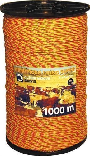 Nirolanko pro ohradníky Super 3mm žlutooranžové