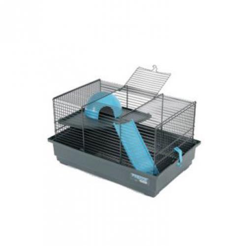 Klec myš INDOOR 2 40cm modrá s výbavou Zolux