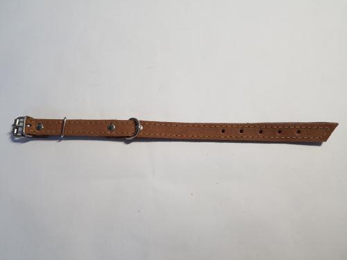 Kožený obojek velur  25 cm x 14 mm/10rùzných barev