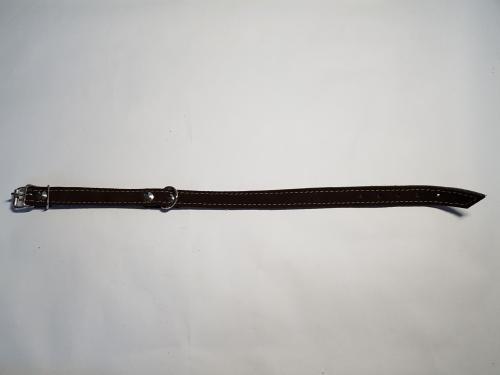 Kožený obojek velur 40 cm x 18 mm/10 rùzných barev