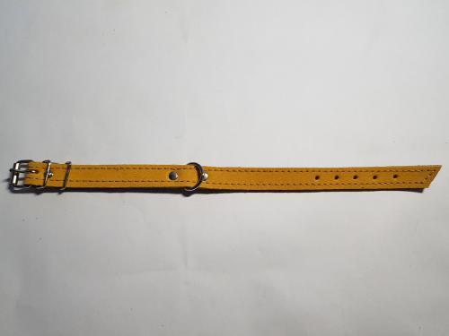 Kožený obojek velur 45 cm x 20 mm/10 rùzných barev