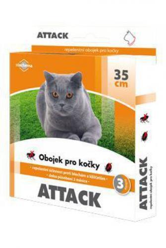 Attack obojek antiparazitární 35cm koèka