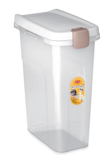 Barel Stefanplast  s víkem 25 l/12 kg - prùhledný